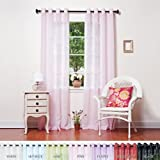 Cheap Best Home Fashion Crushed Voile Sheer Curtains – Antique Bronze Grommet Top – Pink – 52″W x 108″L – (Set of 2 Panels)