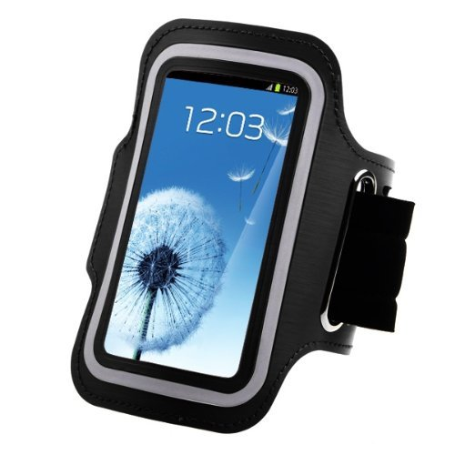 BCSLINE Outdoor Exercise Jogging Armband Case, Premium Running Sports Gym Workout Case/Cover For Motorola DROID MAXX,Color:Black, Cleaning Cloth Free Gift.