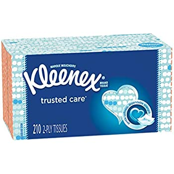 Kleenex Trusted Care Facial Tissues, 18 Flat Boxes, 210 Tissues per Box (3,420 Tissues Total)