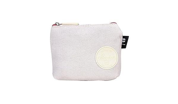 Barlingrock Cute Women Purse Wallet Bag Girls Coin Card Key Holder Canvas Pouch White