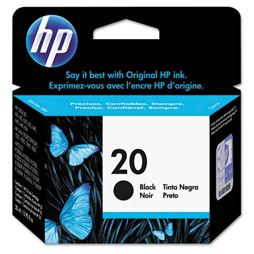 HP - HP 20, (C6614D) Large, Black Original Ink Cartridge C6614D (DMi EA
