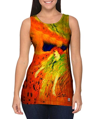Yizzam- Pablo Picasso - Woman with Blue Hat (1901) -Tshirt- Womens Tank Top-Medium