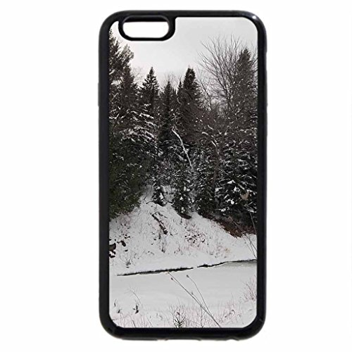 iPhone 6S Case, iPhone 6 Case (Black & White) - winter in industry, maine 1