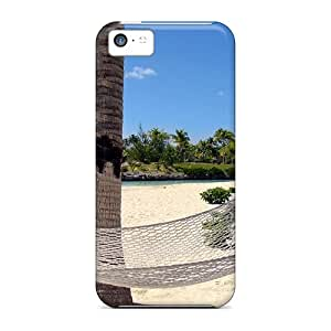 Case Cover Beach Hammock Hawaii/ Fashionable Case For Iphone 5c