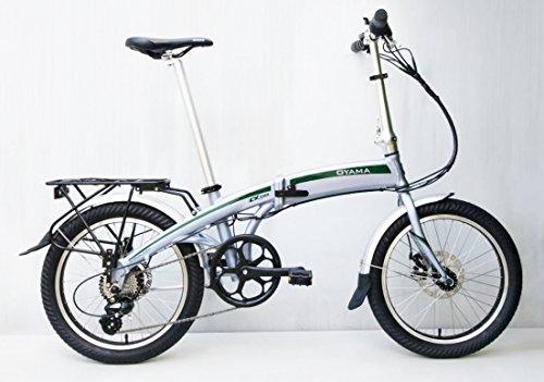 Oyama CX E8D Metallic Silver Electric 36 Volt Folding Bike Bicycle