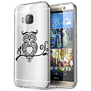 c0321 - cool fun cute owl pet nature birds aztec Design htc One M8 Fashion Trend CASE Gel Rubber Silicone All Edges Protection Case Cover