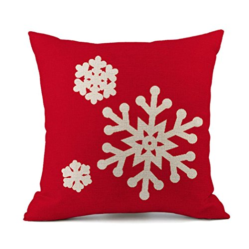 Throw Pillowcases, Kimloog Santa Claus and Snowflakes Merry
