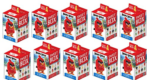 Angry Birds Movie Toys- Set of 10 Sweet box The Angry Birds Movie as super surprise eggs- Angry Bird Toys Set-Angry Birds Movie Mini Figures-Red-Mighty Eagle-Bomb-Chuck-Matilda-Green Pigs-Toys set
