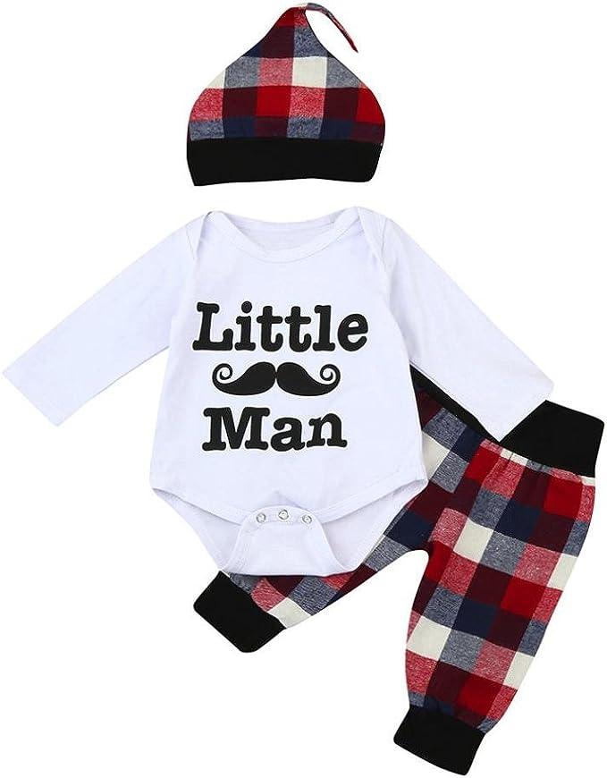Switchali Ropa Bebe Nino Recien Nacido otoño Impresión Blusas Bebe niña Manga Larga Camisetas Bebé Conjuntos Moda Camisa + Pantalones Largos + Sombrero (3 Piezas): Amazon.es: Ropa y accesorios