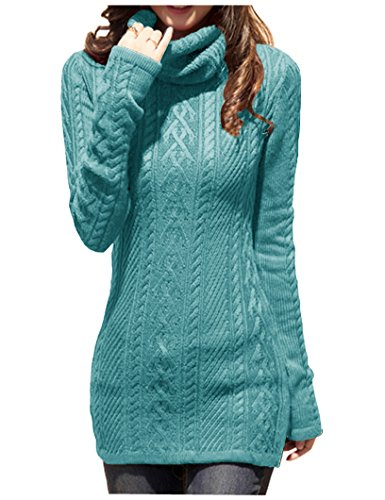 404807a8b57 v28 Women Polo Neck Knit Stretchable Elasticity Long Sleeve Slim Sweater  Jumper (US Size 6