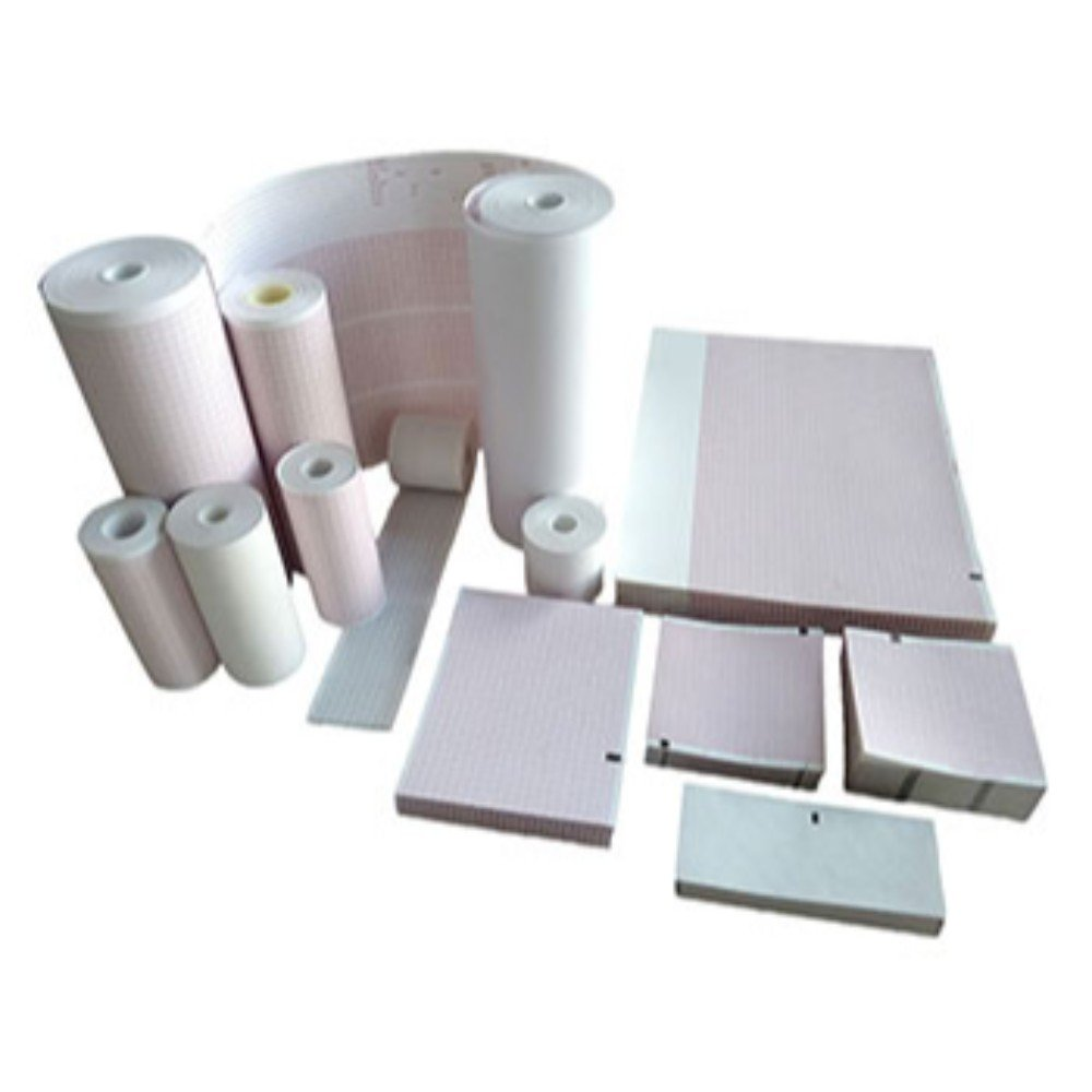 ECG EKG Mounting Form Paper Burdick 7036 Thermal Recording Sheets 5 Packs per Case