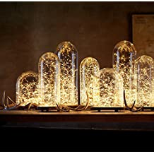 LED String Lights, Pack of 10 Sets LED Moon Lights 20 Micro Starry LEDs on Extra Silver Wire ( Batteries Include), 3.5 Ft for DIY Wedding Decorations Centerpiece (Warm White)
