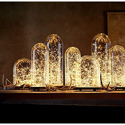 Silver wedding centerpieces amazon 10 pack led string lights led moon lights 20 led micro lights on silver copper wire batteries include for diy wedding centerpiece table decoration junglespirit Image collections