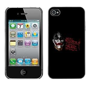 """For Apple iPhone 4 / 4S , S-type Cómo Usted es el único"""" - Arte & diseño plástico duro Fundas Cover Cubre Hard Case Cover"""