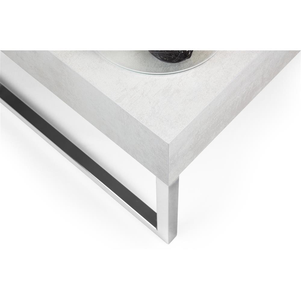 90x60x40 cm Cemento Legno Mobilifiver Evo XL Tavolino da Salotto
