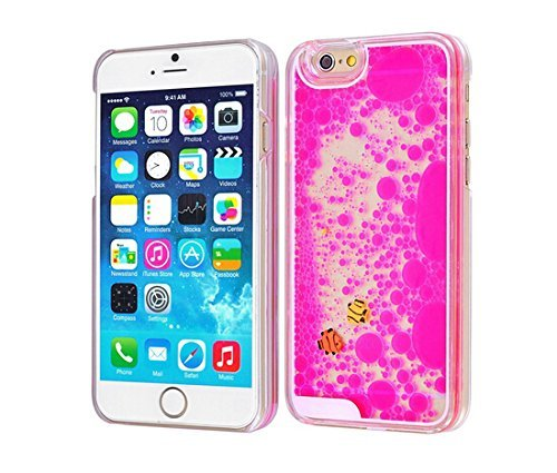 Sunday Gallery Flowing Liquid Water Floating Swimming Fish Aquarium Movable Dynamic Hard Case Cover For iPhone 6S 4.7