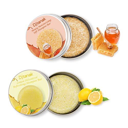 Djtanak Champú Sólido Organico, Natural Herbal Champú para, Tratamiento de diferentes fragancias para la caida del pelo, anticaspa