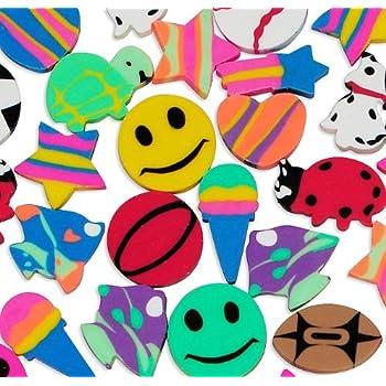 Fun Express Mini Eraser Assortment Novelty (500 Pieces)