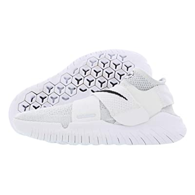 Nike Womens Free Rn Motion Fabric Low Top, White/Black/Pure Platinum, Size 9.0   Road Running