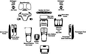 Rdash Dash Kit Decal Trim for Chevrolet Camaro 2012-2015 - Carbon Fiber 4D (Red)