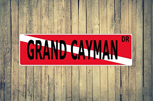 Grand Cayman Dive Flag Aluminum Street Sign Indoor Outdoor Use