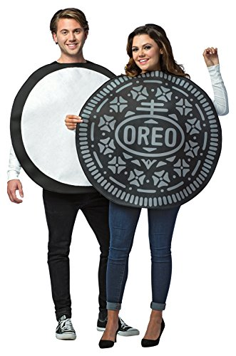 UHC Oreo Cookie Outfit Funny Theme Party Fancy Dress Halloween Couple Costume, OS