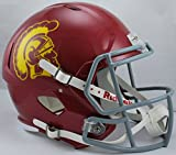 NCAA USC Trojans Full Size Speed Replica Helmet, Red, Medium