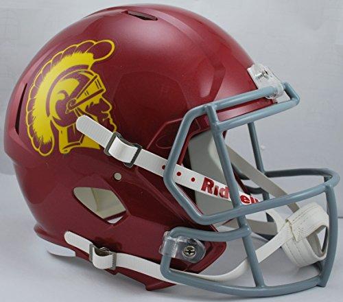 NCAA USC Trojans Full Size Speed Replica Helmet, Red, Medium by Riddell