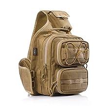 YAKEDA®Outdoor Tactical Shoulder Backpack, Military & Sport Bag Pack Daypack for Camping, Hiking, Trekking, Rover Sling--KF043