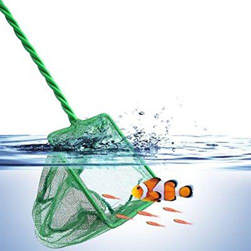 Fine Mesh Fishnet - GEZICHTA Aquarium Fish Tank Nets, Quick Catch Fishnet with Handle for Fish Tank Fishing Accessories, 7 Sizes(6 Inch,Green)