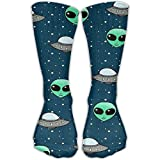 Alien Ufo Womens Mens Dress Crew Socks Comfortable Pregnancy Cotton Socks