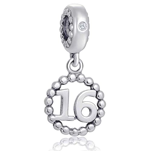 d290b1bf7 Number Bracelet Charms - 925 Sterling Silver Pendants/Beads Fit Pandora  Charm Bracelets, Necklace, European Snake Chain,16/18/21/30/40/50/60  Dangling/Dangle ...