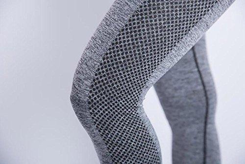 JIASHA Las mujeres absorben el sudor Power Flex Yoga pantalones nueve pantalones 25