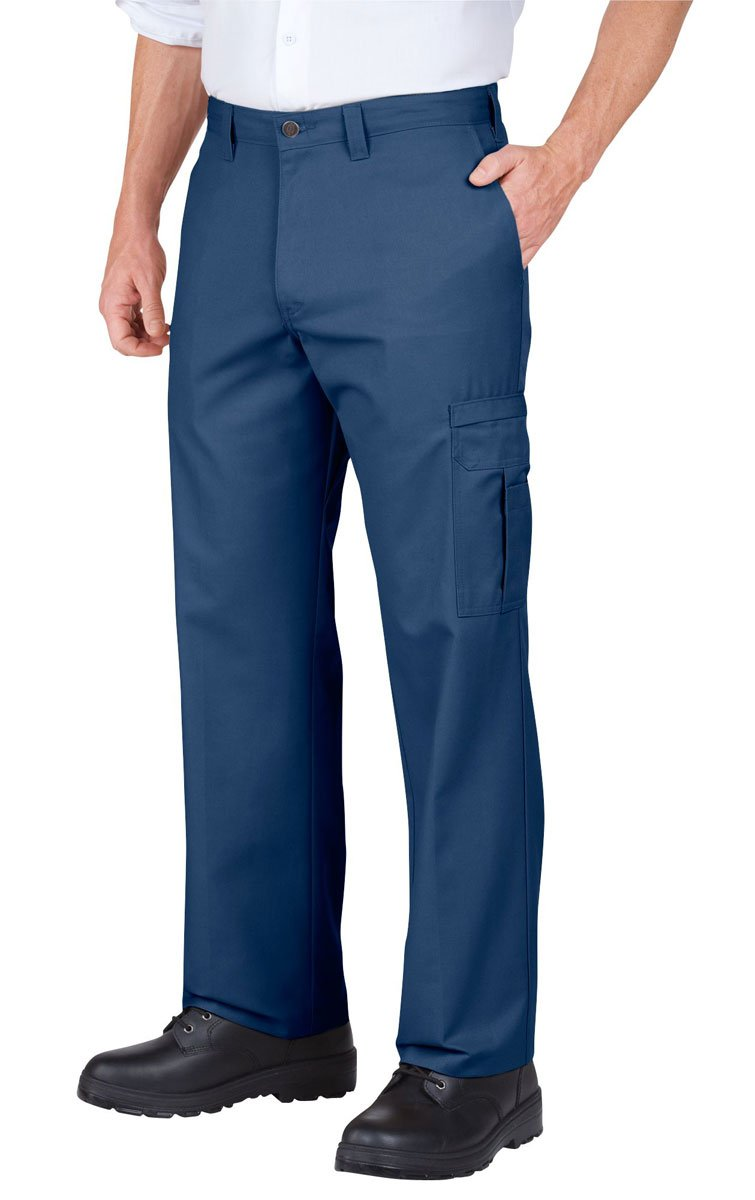 Dickies Occupational Workwear 2112372NV 36x34 Polyester/Cotton Relaxed Fit Men's Premium Industrial Cargo Pant with Straight Leg, 36 Waist Size, 34 Inseam, Navy Blue 36 Waist Size 34 Inseam