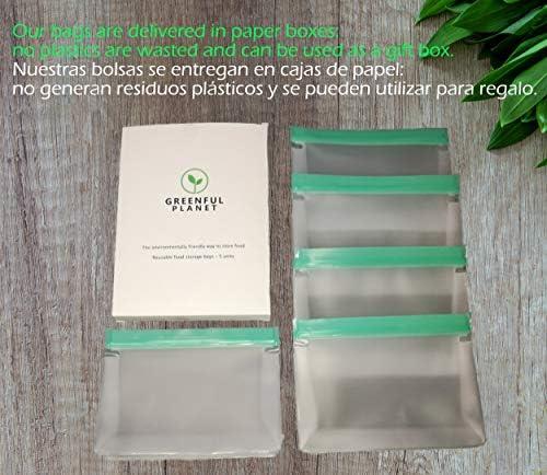 Greenful Planet Bolsas Reutilizables para Almacenamiento de ...