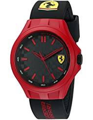 Ferrari 830287 Pit Crew Analog Display Quartz Black Watch