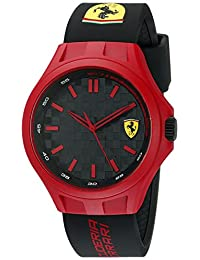 Ferrari Men's 0830286 Pit Crew Analog Display Japanese Quartz Black Watch
