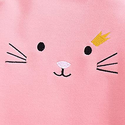 Onefa Todder Children Kids Baby Girls Tops Solid Cartoon Ruffles T Shirt Clothes