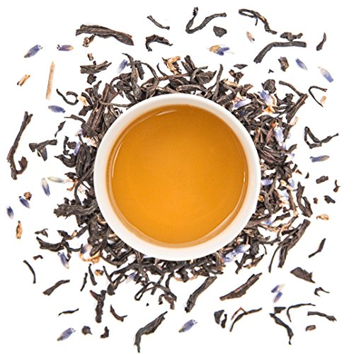 Lavender Delight Loose Leaf Black Tea - 100% Pure Culinary Grade Lavender Blended with Premium Indian Black Tea - Fresh Blend Direct from the Source. Farm to Cup - No Middleman (1 lb - 225 servings)
