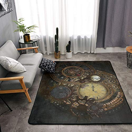 YOUNG H0ME Bedroom Livingroom Sitting-Room King Size Kitchen Rugs Home Decor - Steampunk Clocks Doormat Floor Mat Fast Dry Toilet Bath Rug Exercise Mat Throw Rugs Runner
