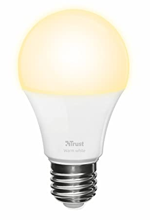Trust Smart Home ZLED-2709 - Bombilla LED Inteligente Regulable, luz Blanco cálido,