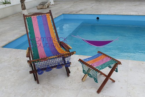 Incroyable Amazon.com : Wood Mayan Hammock Rocking Chair. Beach Chair In NYLON. Hand  Made Knit. : Patio Rocking Chairs : Garden U0026 Outdoor