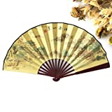 Skuleer(TM) 5pcs New Cheap Chinese Sandalwood Women Summer Party Folding Fan Men Hand Fans Gift[ 6 ]