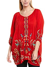 Womens Plus Top, 1X, Red
