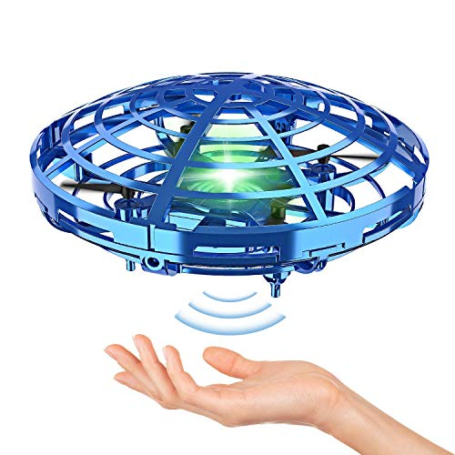 Hand Operated Drones for Kids or Adult – Interactive Infrared Induction Indoor Helicopter Ball with 360° Rotating and Shinning LED Lights,Hand-Controlled Flying Ball Toys for 5 6 7 8 9 10 11 12 Years