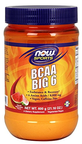 NOW Foods BCAA Big 6 Natural Watermelon Supplement, 600 Gram