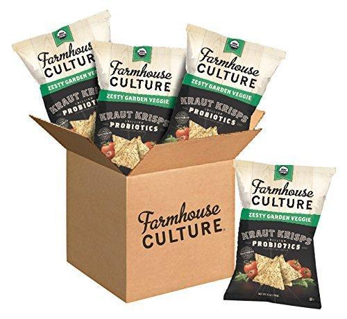 Farmhouse Culture Kraut Krisps, Zesty Garden Veggie, 5 oz. Bags, 4 Count For Sale