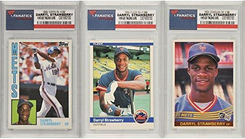 Darryl Strawberry New York Mets 3 Card Rookie Lot - Fanat...