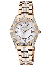 Bulova Women's 98L197 Analog Display Japanese Quartz Two Tone Watch