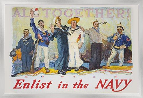 US Navy Vintage Poster - All Together